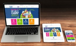 Eat Like A Champ is a 'Responsive' website